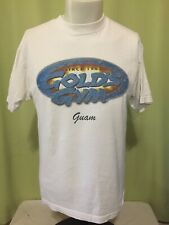 Vintage Gold's Gym Guam Men's White T Shirt Size Medium