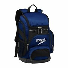 CLEARANCE NAVY SPEEDO TEAMSTER BACKPACK SWIM SWIMMING GYM KIT BAG, 35 LITRES