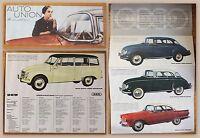 Original Werbeprospekt Auto Union 1000-er Modelle um 1955 Audi Automobile xz