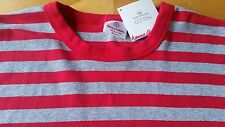 NWT HANNA ANDERSSON ORGANIC LONG JOHN PAJAMA SHIRT RED GRAY GREY MENS S WOMEN M