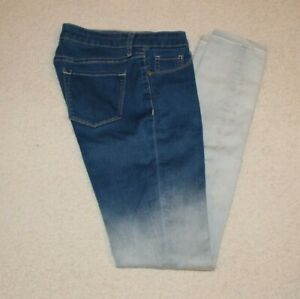 Decree Women's Two Tone Blue Denim Legging Jeans Size 5