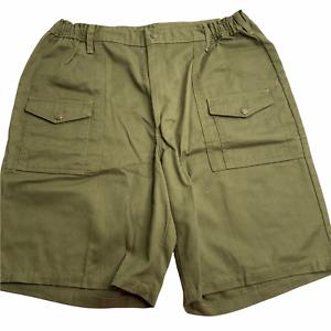 Vintage Boy Scouts of America BSA Green Uniform Cargo Shorts Men's Size 38