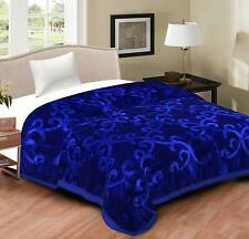 Twin Size Floral Mink Blankets BED SHEET Bedding Ultra Soft Flannel Throw