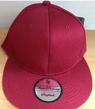 VIN / marron uni snapback caps, ajustée visière plate casquettes de Baseball,