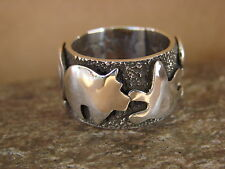 Native American Sterling Silver Men's Ring by Alex Sanchez Size 7 1/2
