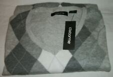 Claiborne Mens XL Pullover Long Sleeve Sweater Argyle Style, Gray