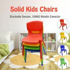 Set of 10 Brand Kids Toddler Plastic Chair Yellow Blue Red Green Up to 100KG