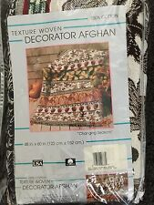Changing Seasons ~ Fall Harvest Tapestry Afghan Throw Pumpkins Leaves Apples New
