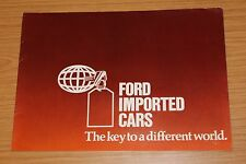 Ford Imported Cars 1977 Sales Brochure Mustang 2 Ghia & Mach 1 etc