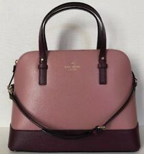 Nuovo Kate Spade Piccolo Rachelle Grand Strada Colorblock Pelle Borsa Dusty Rosa