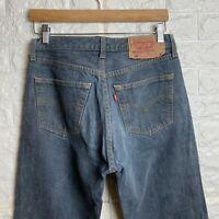 LEVI'S Mens 501 Jeans W31 L34 Grey Vintage Straight Leg Regular Fit Denim Denim
