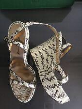 DOLCE & GABBANAA woman's wedge sandals platform 40.5 $1800 Python