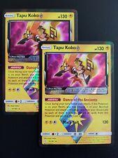 Pokemon Card - 2 x Tapu Koko 51/181  Prisma Star Holo Team UP Englisch NM/Mint
