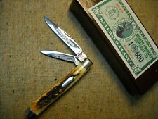 Schatt & Morgan USA 032117 Reverse Peanut Knife beautiful India Stag