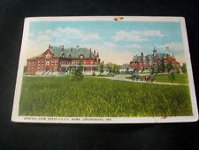 Vintage Postcard- General View, State I.O.O.F. Home, Greenburg, Indiana- w/cars