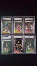 1981 Topps Basketball cards lot of 6 Dr. J Magic Kareem Bird Mchale rookie GMA