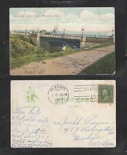1910 LION BRIDGE AT LAKE PARK MILWAUKEE WIS POSTCARD