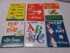 Dr. Seuss Hardcover Books 6 in All Cat in the Hat, Green Eggs & Ham, ABC + More