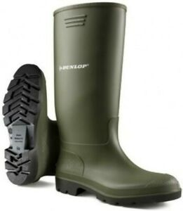 GIRLS LADIES GREEN DUNLOP WELLINGTONS SNOW RAIN BOOTS SIZES UK 3-12