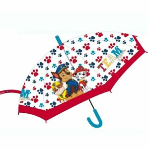 Paw patrol kids automatic transparent umbrella official merchandise 75cm