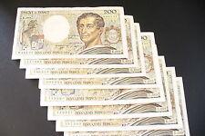 JOLI  BILLETS  200  FRS  MONTESQUIEU  1991  ALPH. DIFF.  !!!  (achat unitaire)