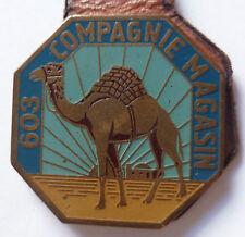 Insigne thème Sahara 603° CM COMPAGNIE de MAGASIN Matériel type 1 sur son cuir