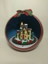 Musical Holiday Station Electric Animated Train Ornament - Red 7""