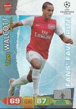 THEO WALCOTT FANS ARSENAL FC CARD ADRENALYN CHAMPIONS LEAGUE 2012 PANINI