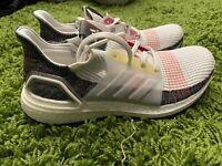 "Adidas UltraBoost 19 ""Pride"" Sneakers White Multi-Color EF3675 Men's Size 9"