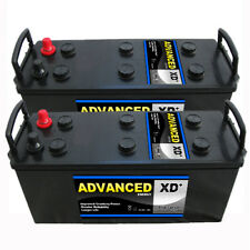 Pair of 12v ABS 12V TYPE 637XD COMMERCIAL/HGV BATTERY 140AH 900CCA