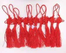 """10 PCS Chinese Knot Red Auspicious  China Knot Tassel Pendant 7"""" Lucky Feng Shui"""