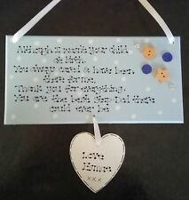 Personalised Not Child at Birth Special Step Dad Foster Fathers Day Gift Plaque