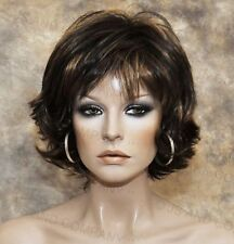 Wonderful EveryDay Short N Sassy Style wig full bangs Brown Mix NLLx 4-27