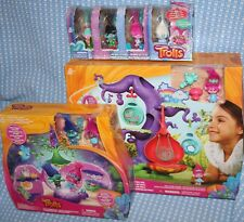 trolls bundle: DreamWorks POD'ular Troll Tree,Poppy's coronation,8 figures.