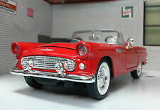 G LGB 1:24 Scale 1956 Ford Thunderbird Convertible Motormax Diecast Model red