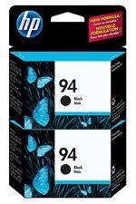 GENUINE NEW HP 94 (C8765WN) Black Ink Cartridge 2-Pack