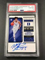 MARVIN BAGLEY 2018 PANINI CONTENDERS DRAFT #53 AUTO ROOKIE RC PSA 10