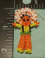 """Vintage Small Beaded Native American Doll 2 """""""