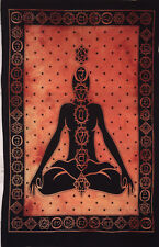 Cotton Seven Chakra Yoga Buddha Design Picture Small Art Fabric Tapestry Poster