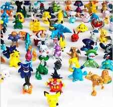 24pcs Cute Random Pokemon Action Figures Kids Toys gift cake topper one pikachu