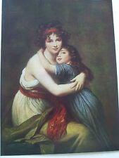 Antique Print C1930S Madame VIGEE LEBRUN et sa fille Elizabeth Lebrun Art