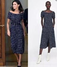 Zara Queen Tweed Midi Dress Size Small NWT