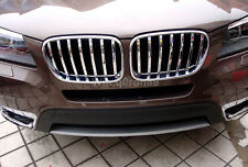 For BMW X3 F25 2011 - 2015 ABS Chrome Front Center Grille Grill Frame Cover Trim