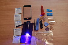iPhone 5 5c 5s Black Front Glass, Screen Repair kit, loca glue, wire, uv torch