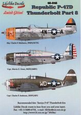 Lifelike 1/48 decal Republic P-47D Thunderbolt Pt 8 for Tamiya - 48-046