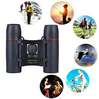 Vision 30 x 60 Zoom Outdoor Travel Folding Binoculars Telescope+Case