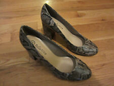 NEW WOMENS BELLA VITA 11WW 11 EXTRA WIDE SNAKESKIN DESIGN SHOES HEELS SLIP ONS