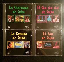 Milan Latino CDs La Rumba La Charanga El Son & El Cha Cha Cha De Cuba 4x Mint