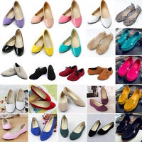 Womens Ladies Ballerina Flats Ballet Slip on Shoes Dolly Pumps Loafers Moccasin