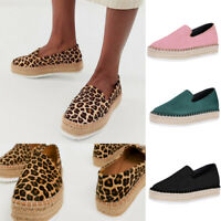Summer Women flatheel Comfy Shoes Espadrilles Sandals No Lace Casual Loafers